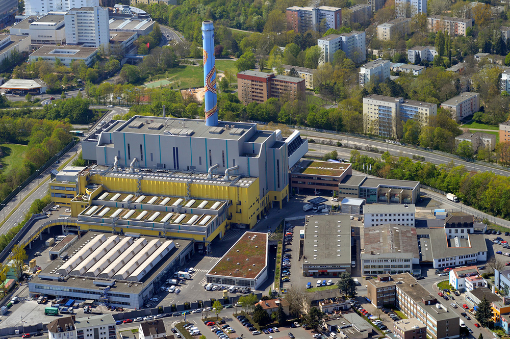 Das Müllheizkraftwerk in Frankfurt am Main