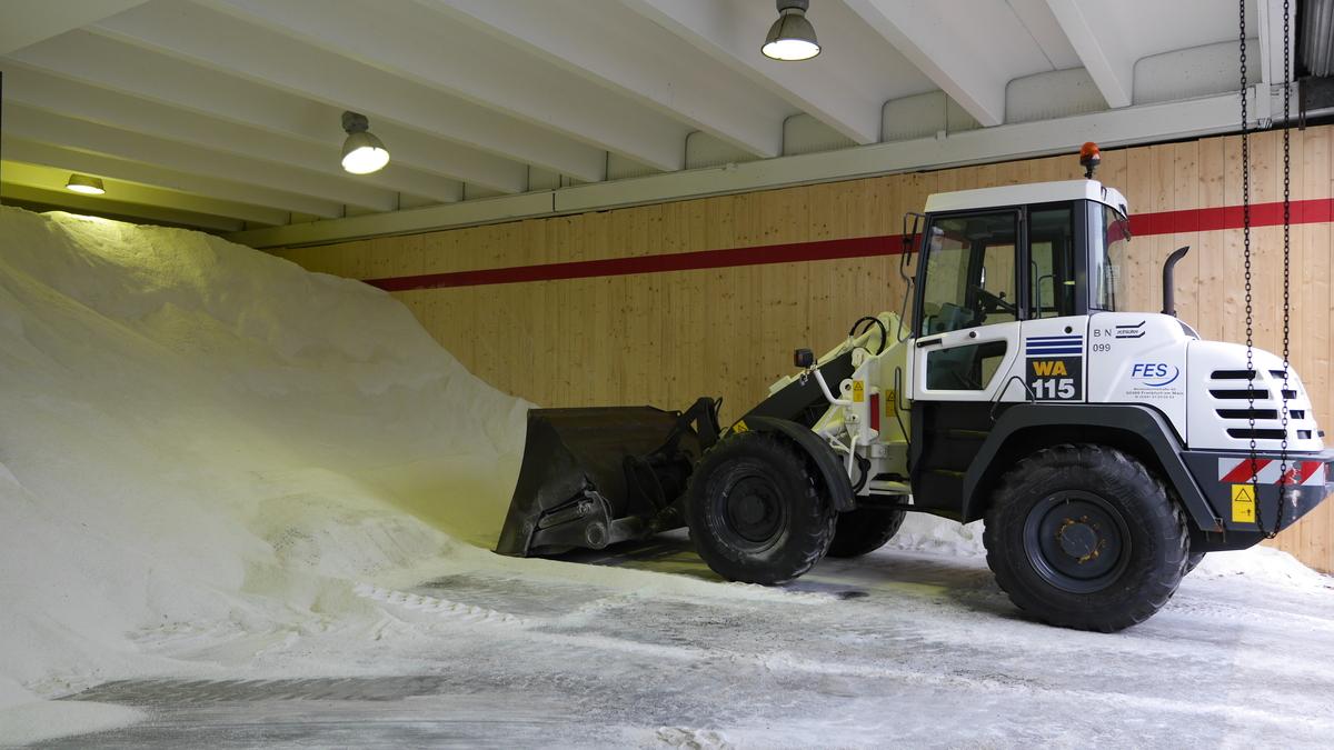 Winterdienst Salzlager