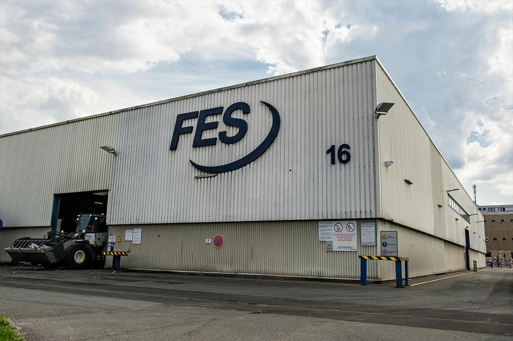 Die Altpapiersortieranlage der FES